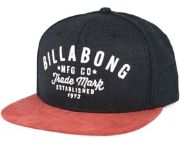 Sama Black Heather Snapback - Billabong