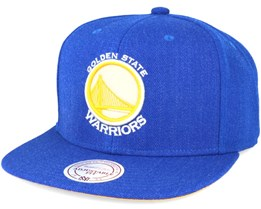 Golden State Warriors Royal Heather Snapback - Mitchell & Ness