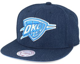 Oklahoma City Thunder Navy Heather Snapback - Mitchell & Ness