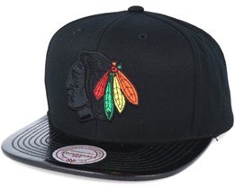 Chicago Blackhawks Patent 2T/Tonal Snapback - Mitchell & Ness
