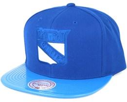 NY Rangers Patent 2T/Tonal Snapback - Mitchell & Ness