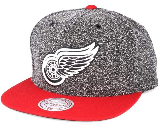 Detroit Red Wings Black/Olive Static Snapback - Mitchell & Ness