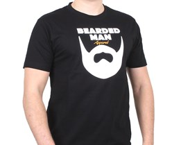 Logo Text Black T-Shirt - Bearded Man