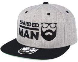 BMLogo Grey/Black Snapback - Bearded Man