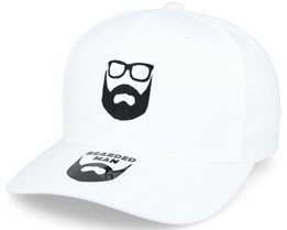 Logo White Flexfit - Bearded Man