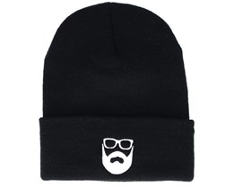 Logo Black Beanie - Bearded Man