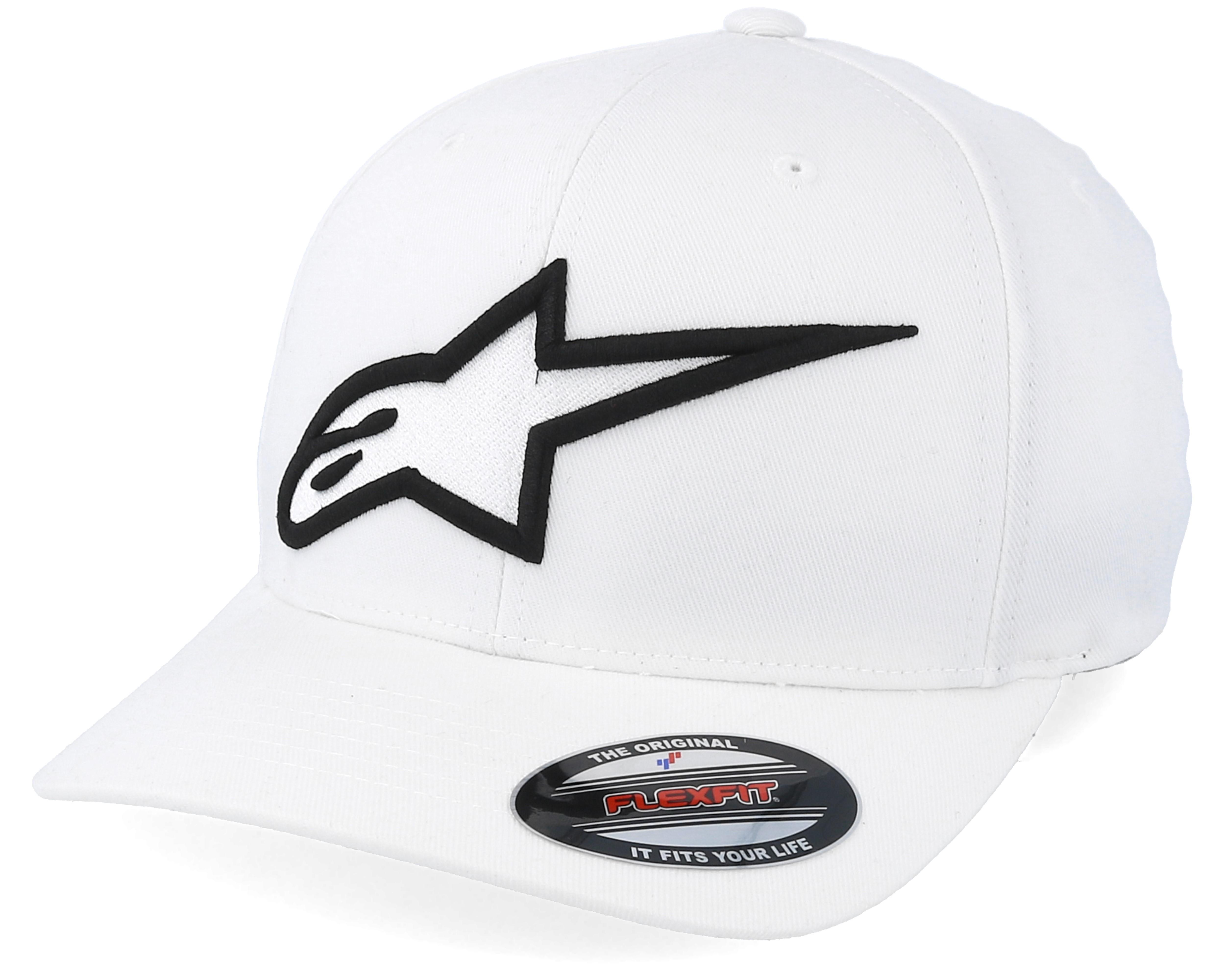 logo astar flexfit whiteblack alpinestars