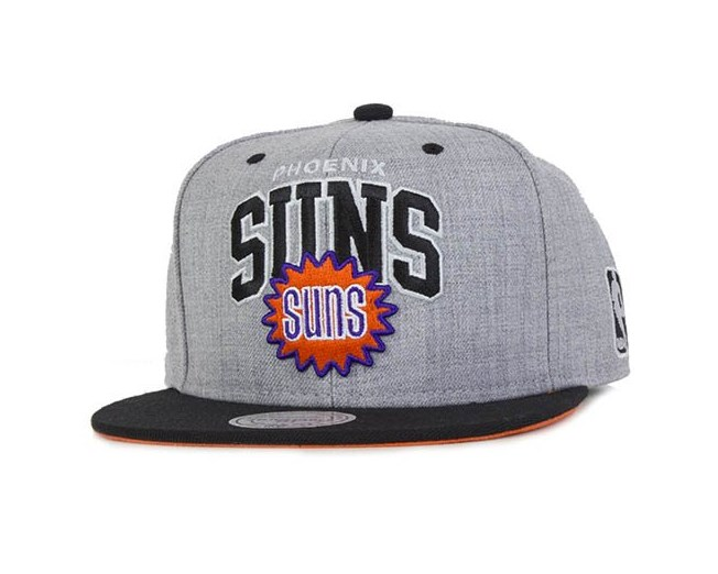 Phoenix Suns Heather Wool Scripop Snapback - Mitchell & Ness