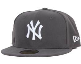 NY Yankees MLB Basic Graphite/White 59Fifty - New Era