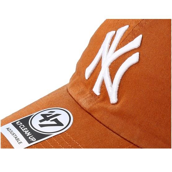 49ae2971e43e5 cheapest new york yankees clean up burnt orange adjustable 47 brand caps  hatstore f2afb addb8
