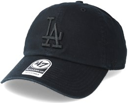 Los Angeles Dodgers Clean Up Black Adjustable - 47 Brand
