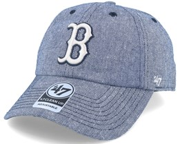 Boston Red Sox Strike Through Clean Up Heather Navy Adjustable - 47 Brand