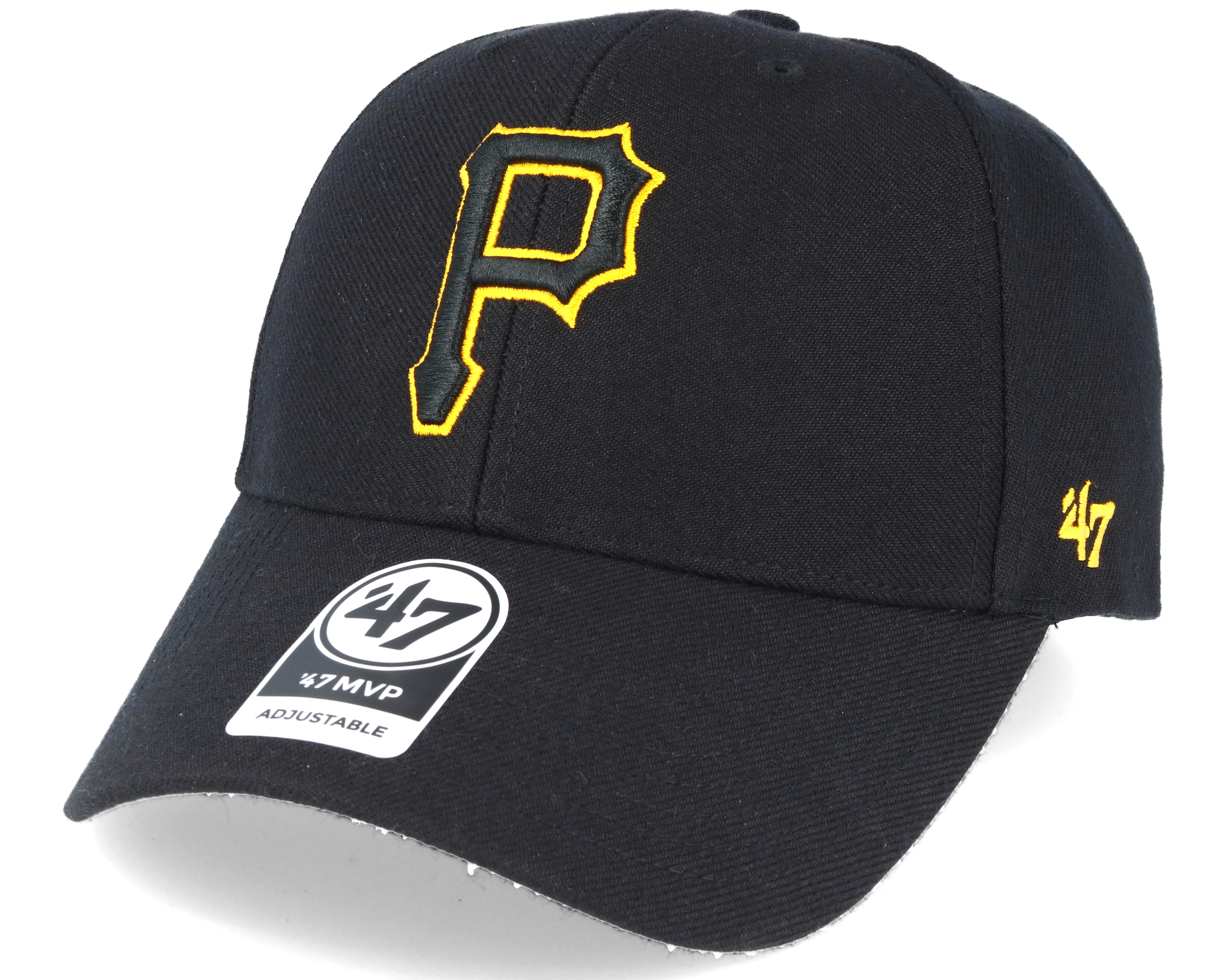 8a96234087783a Pittsburgh Pirates Mvp Black Adjustable - 47 Brand caps | Hatstore.co.uk