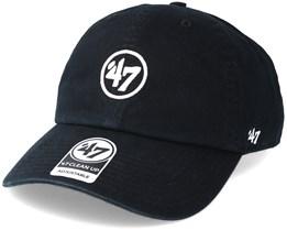 New York Yankees 47 Brand Logo Clean Up Black Adjustable - 47 Brand