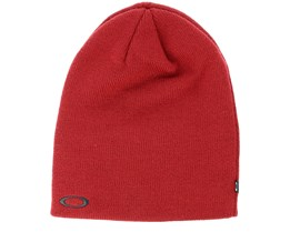 Fine Knit Iron Red Beanie - Oakley