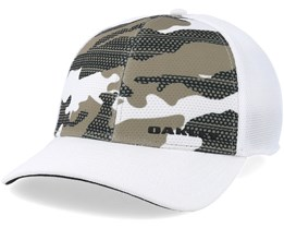 Silicone Bark Trucker Print 2.0 White Flexfit - Oakley
