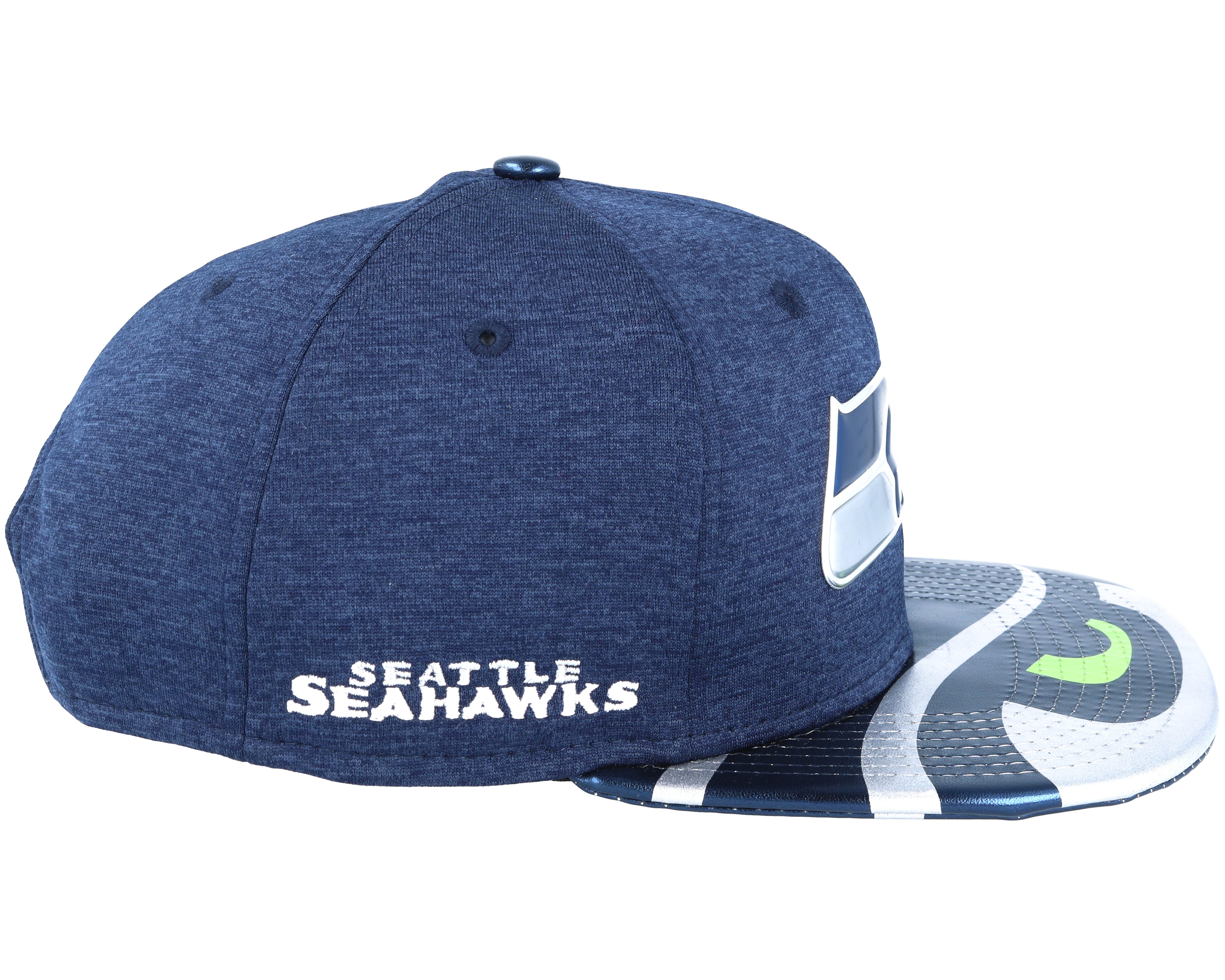 seattle seahawks draft 2017 9fifty navy snapback new era caps. Black Bedroom Furniture Sets. Home Design Ideas