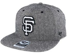 San Francisco Giants Herring Captain Heather Black Snapback - 47 Brand