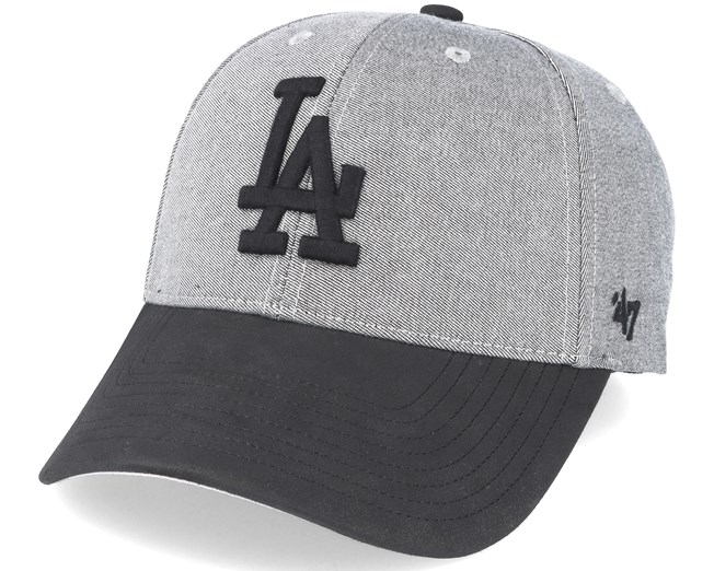 Los Angeles Dodgers All In Mvp Grey black Adjustable - 47 Brand caps ... 9eec5b19423
