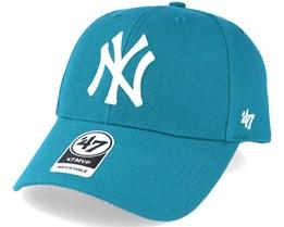 New York Yankees Mvp Dark Teal Adjustable - 47 Brand