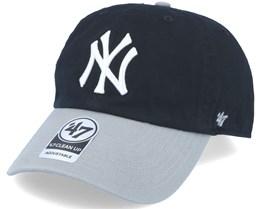 New York Yankees 2 Tone Clean Up Black/grey Adjustable - 47 Brand