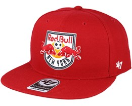 New York Red Bulls Sure Shot Captain Red Snapback - 47 Brand