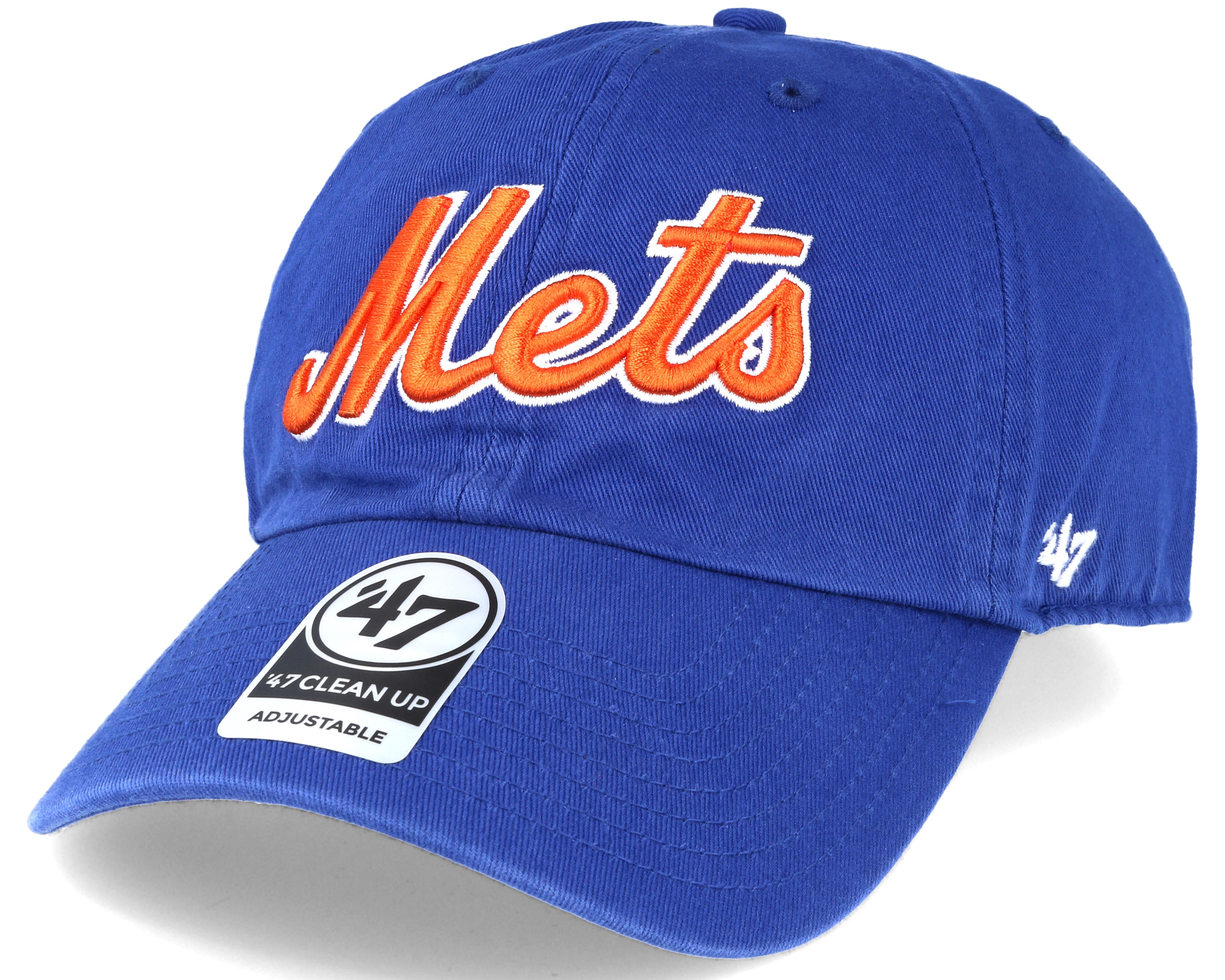 san francisco 9f3c8 4093b ... store new york mets script clean up royal blue adjustable 47 brand caps  c69ea f288a