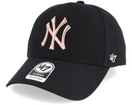 New York Yankees Mvp Black/Copper Adjustable - 47 Brand