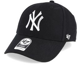 New York Yankees Mvp Black/Silver Loughlin Adjustable - 47 Brand