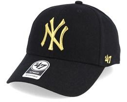 New York Yankees Mvp Black/Gold Loughlin Adjustable - 47 Brand