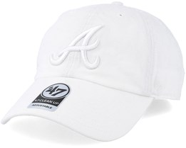 Atlanta Braves Clean Up White Adjustable - 47 Brand