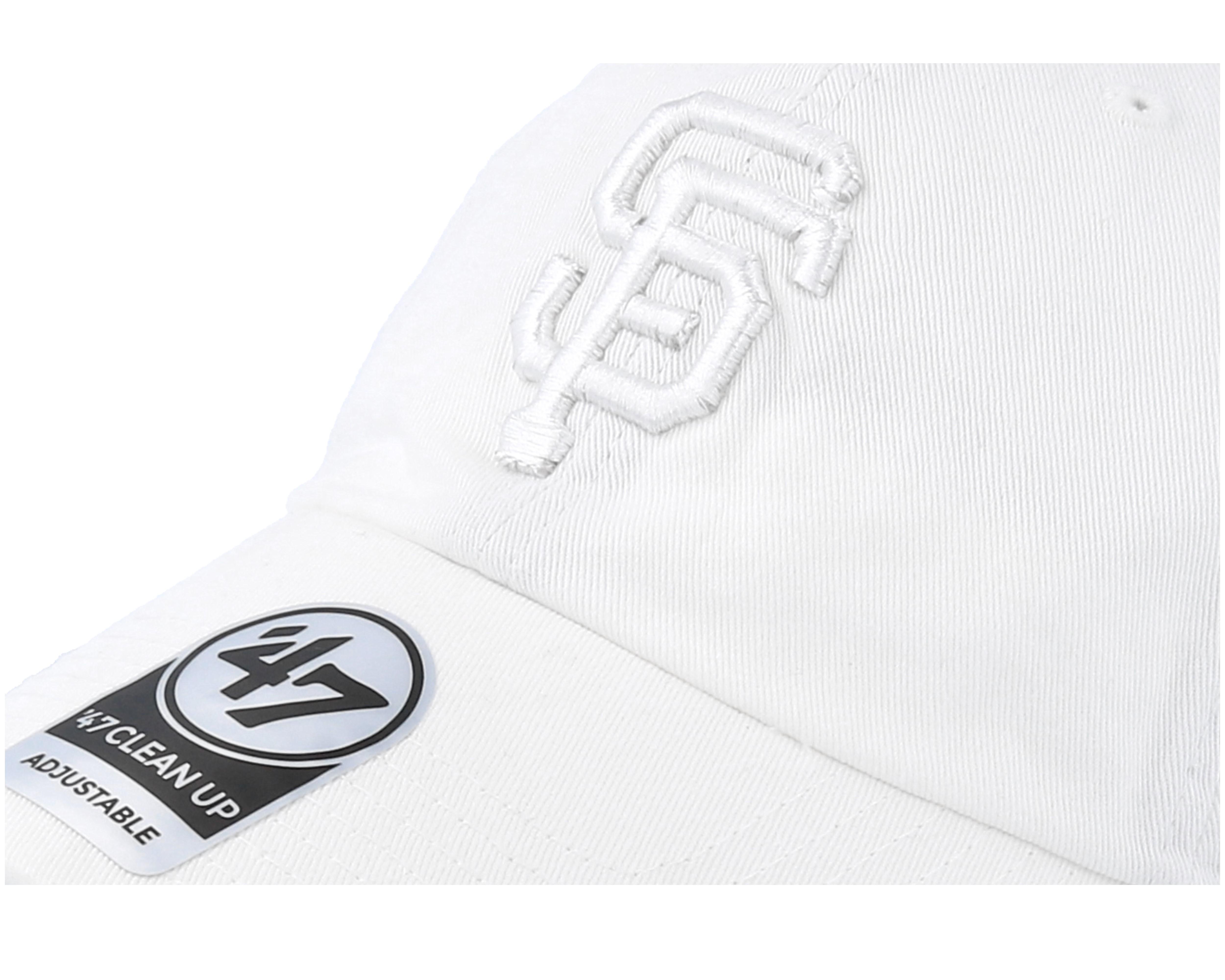 san francisco giants clean up white white adjustable 47 brand cap. Black Bedroom Furniture Sets. Home Design Ideas
