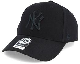 New York Yankees Mvp Black/Black Adjustable - 47 Brand