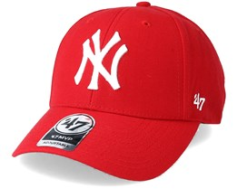 New York Yankees Mvp Classic Red Adjustable - 47 Brand