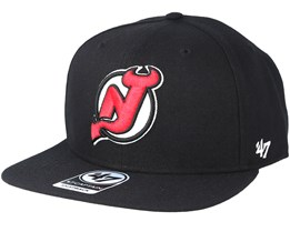 New Jersey Devils Sure Shot Black Snapback - 47 Brand