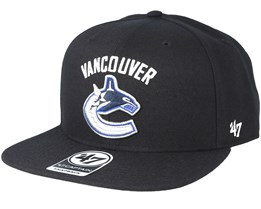Vancouver Canucks Sure Shot Black Snapback - 47 Brand