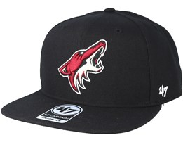 Arizona Coyotes Sure Shot Black Snapback - 47 Brand