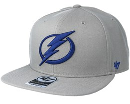 Tampa Bay Lightning Sure Shot Gray Snapback - 47 Brand
