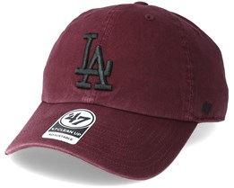 Los Angeles Dodgers Clean Up Dark Maroon Adjustable - 47 Brand