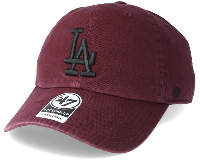 Los Angeles Dodgers Clean Up Dark Maroon Adjustable - 47 Brand caps ... cb0ea3989cad