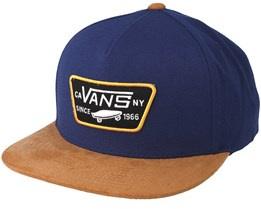 Full Patch Dress Blue Snapback - Vans