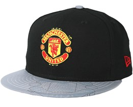 Manchester United Reflective Visor 5950 Black Fitted - New Era