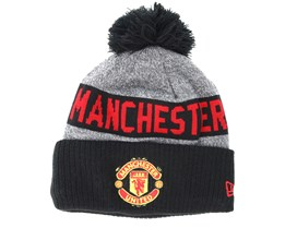 Manchester United Crown Bobble Knit Black Pom - New Era