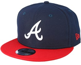 Atlanta Braves Team 2 Navy Snapback - New Era