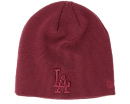Los Angeles Dodgers Seasonal Skull Boston Maroon Beanie - New Era