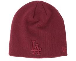 Los Angeles Dodgers Seasonal Skull Boston Maroon Beanie - New Era