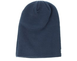 Seasonal Long Knit Navy Beanie - New Era