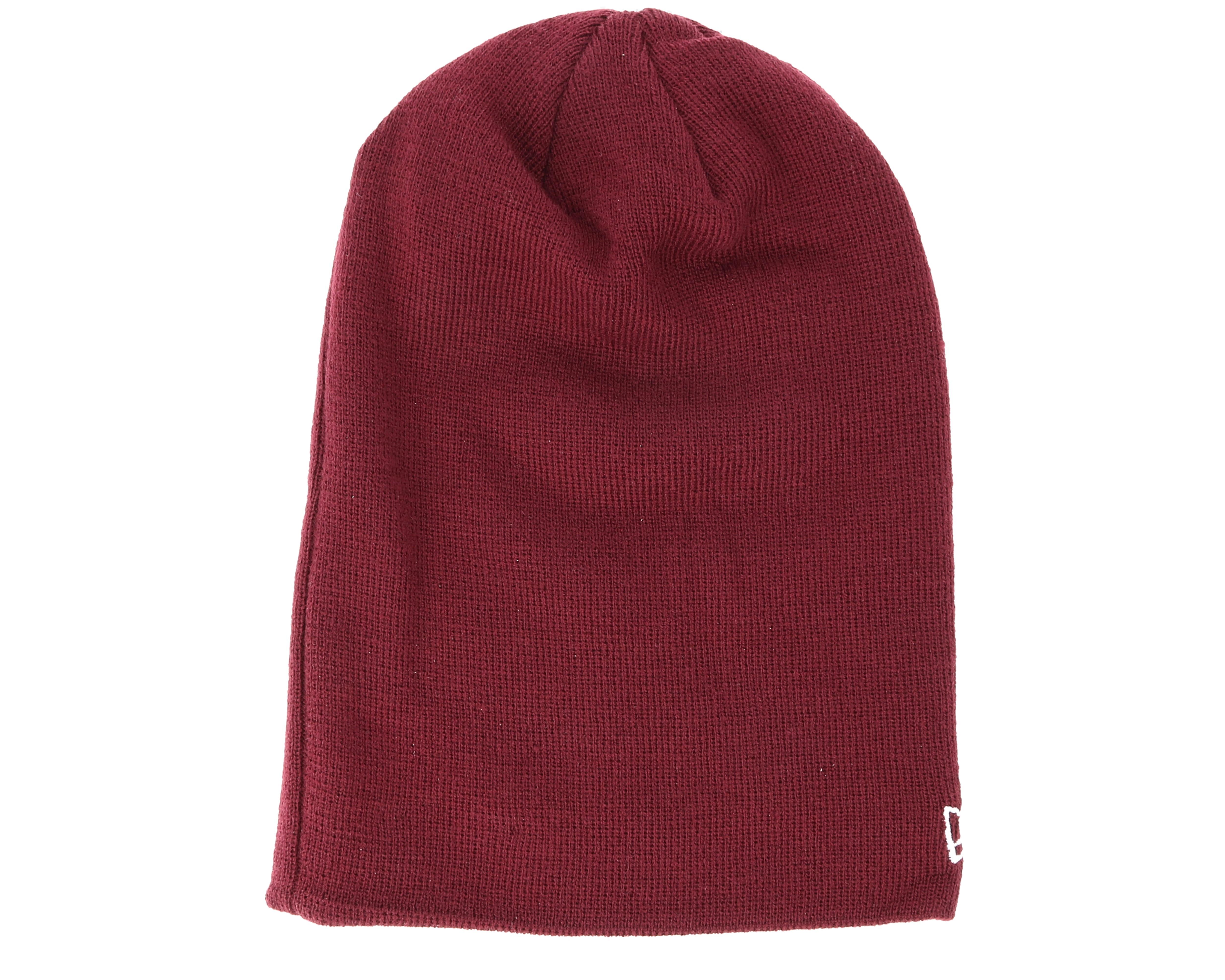 seasonal long knit maroon beanie new era beanies. Black Bedroom Furniture Sets. Home Design Ideas