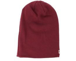 Seasonal Long Knit Maroon Beanie - New Era