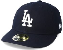 Los Angeles Dodgers Poly Low Profile 59Fifty Navy Fitted - New Era